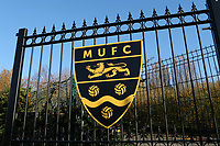 Club Badge on the main gates at the Gallagher Stadium during Maidstone United vs Wrexham, Vanarama National League Football at the Gallagher Stadium on 17th November 2018