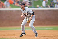 Third baseman Joe Van Meter #4 of the VCU Rams on defense against the Virginia Cavaliers at the Charlottesville Regional of the 2010 College World Series at Davenport Field on June 4, 2010, in Charlottesville, Virginia.  The Cavaliers defeated the Rams 14-5.  Photo by Brian Westerholt / Four Seam Images