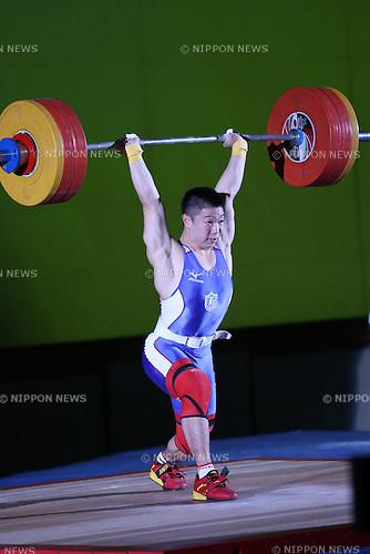 Masanori Miyamoto, <br /> MAY 21, 2016 - Weightlifting : <br /> All Japan Weightlifting Championship 2016 Men's -69kg <br /> at Yamanashi Municipal Gymnasium, Yamanashi, Japan. <br /> (Photo by AFLO SPORT)