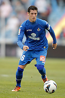 Getafe's Sergio Escudero during La Liga match. February 16, 2013. (ALTERPHOTOS/Alvaro Hernandez) /Nortephoto