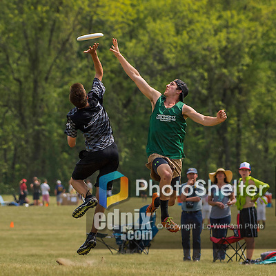 22 May 2016: The Vermont Commons School Flying Turtles play Montreal in the Open B Division finals at Oxbow Marina Fields in Northampton, Massachusetts. The Turtles defeated Montreal 13-7 to win first place in the Division. Mandatory Credit: Ed Wolfstein Photo *** RAW (NEF) Image File Available ***
