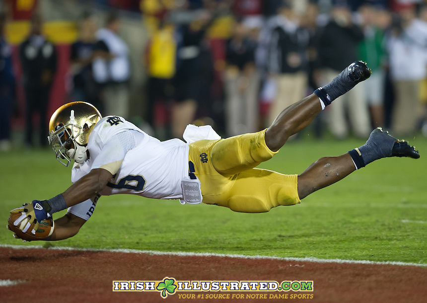Theo Riddick scores Notre Dame's only TD of the game.
