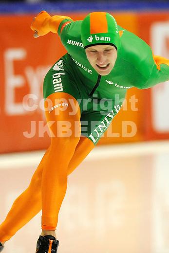 HEERENVEEN - Schaatsen,IJstadion Tialf,  NK afstanden,  10.000 meter heren seizoen 2011-2012 , 06-11-2011 Bob de Vries