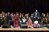 Montserrat Marti, Montserrat Caballe and her granddaughter Daniela, Ricardo Estrada<br /> Perfomance at State Kremlin palace, Moscow, Russia on June 06,  2018.<br /> **Not for sale in Russia or FSU**<br /> CAP/PER/EN<br /> &copy;EN/PER/Capital Pictures