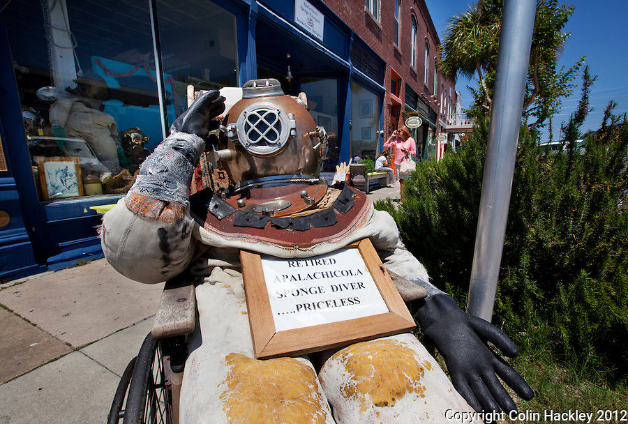 Now a whimsical remembrance, in the early 1900's Apalachicola was famous for the sponges harvested offshore.  .COLIN HACKLEY PHOTO
