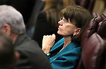 Nevada Assemblywoman Robin Titus, R-Wellington, works on the Assembly floor at the Legislative Building in Carson City, Nev., on Tuesday, March 17, 2015. <br /> Photo by Cathleen Allison