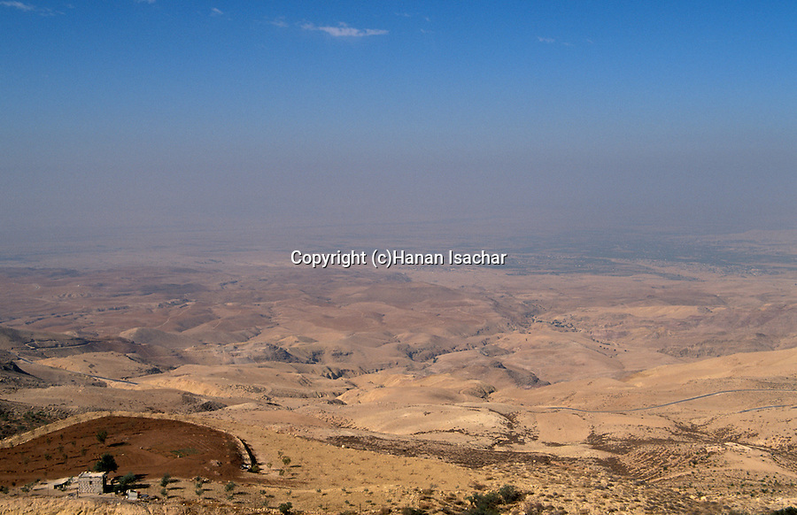 Jordan, the view West of Mount Nebo towards the Jordan Valley&#xA;<br />