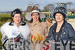 STYLE: Showing their style at the North Kerry Harries point to point races at the Ballybeggan racecourse, Tralee on Sunday l-r: Bernadette O'Callaghan, Blennerville, Annottee O'Mahony, Ardfert and Julie McGrath, Kilflynn.