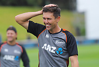 Trent Boult warms up before the start of day four of the international cricket match between NZ Black Caps and Bangladesh at the Basin Reserve in Wellington, New Zealand on Monday, 11 March 2019. Photo: Dave Lintott / lintottphoto.co.nz