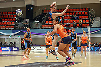 All Stars Daniel Rich cannot claim the ball during the Cadbury Netball Series match between NZ Men and All Stars at the Bruce Pullman Arena in Papakura, New Zealand on Friday, 28 June 2019. Photo: Dave Lintott / lintottphoto.co.nz