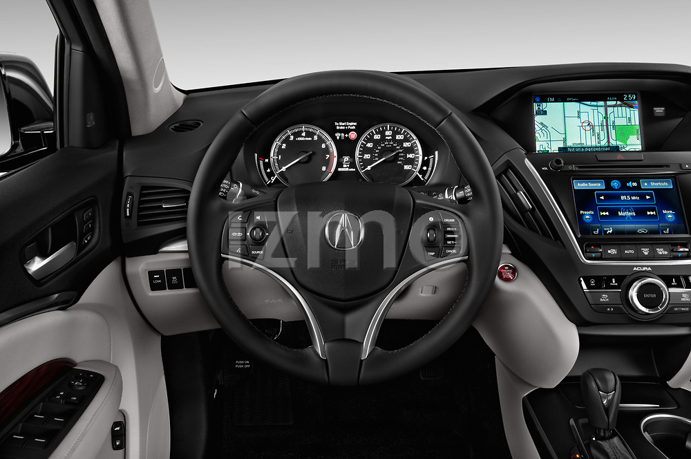 Car pictures of steering wheel view of a 2014-2016 Acura MDX Technology 5 Door SUV