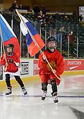 Dawson Creek, BC - Dec 7 2019: Game 2 - USA vs Canada West at the 2019 World Junior A Championship at the ENCANA Event Centre in Dawson Creek, British Columbia, Canada. (Photo by Matthew Murnaghan/Hockey Canada)