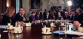 United States President Barack Obama meets with his Cabinet in the Cabinet Room of the White House in Washington, D.C. on Friday, November 7, 2014. <br /> Credit: Dennis Brack / Pool via CNP