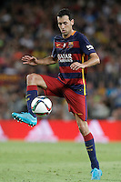 FC Barcelona's Sergio Busquets during Supercup of Spain 2nd match.August 17,2015. (ALTERPHOTOS/Acero)