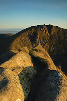 Caisteal Abhail from Cir Mhor at dawn on the Isle of Arran, Ayrshire<br /> <br /> Copyright www.scottishhorizons.co.uk/Keith Fergus 2011 All Rights Reserved