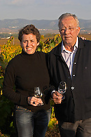 Marta & Joan Mila, father and daughter, owner winemaker. Mas Comtal, Avinyonet, Penedes, Catalonia, Spain
