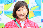 Rikako Ikee (JPN), <br /> AUGUST 2, 2016 : <br /> Welcome Ceremony for the Japanese delegation <br /> during the Rio 2016 Olympic Games <br /> at Athlete's Village, in Rio de Janeiro, Brazil. <br /> (Photo by Yohei Osada/AFLO SPORT)