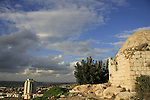 Israel, Sharon region. The Sheikh's Tomb north of Migdal Afek overlooking the city of Rosh Ha'ayin