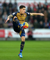 Hector Bellerin of Arsenal during the Barclays Premier League match between Swansea City and Arsenal played at The Liberty Stadium, Swansea on October 31st 2015
