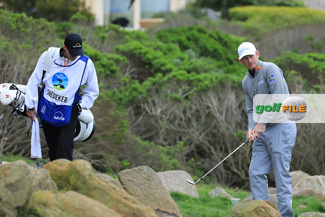 Brandt Snedeker (USA) in action at Monterey Peninsula Country Club during the second round of the AT&amp;T Pro-Am, Pebble Beach Golf Links, Monterey, USA. 08/02/2019<br /> Picture: Golffile | Phil Inglis<br /> <br /> <br /> All photo usage must carry mandatory copyright credit (&copy; Golffile | Phil Inglis)