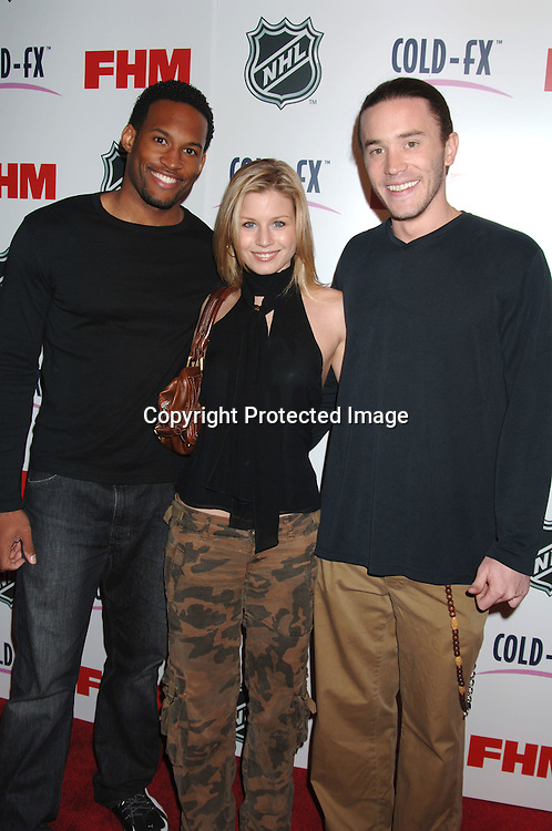Lawrence Saint Victor, Stephanie Gatschet and Tom Pelphrey..arriving at The National Hockey League and FHM Magazine Party to celebrate the 2006-2007 hockey season at Marquee on September 27, 2006. ..Robin Platzer, Twin Images