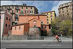 La Processione del Venerdì Santo delle Confraternite di Savona. La Chiesa di Santa Lucia, sede della Confraternita dei Santi Agostino e Monica. The holy friday procession in Savona.