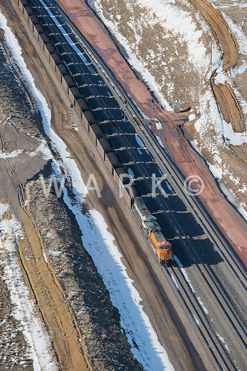 Coal train near Casper, Wyoming. March 2014.