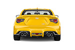 Straight rear view of a 2015 Scion FR-S Release 2 Door Coupe Rear View  stock images