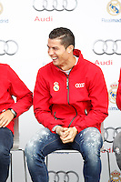 Cristiano Ronaldo participates and receives new Audi during the presentation of Real Madrid's new cars made by Audi in Madrid. December 01, 2014. (ALTERPHOTOS/Caro Marin) /Nortephoto