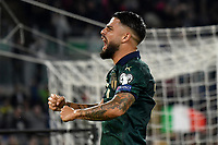 Lorenzo Insigne of Italy celebrates after Jorginho scored on penalty the goal 0f 1-0 for his side <br /> Roma 12-10-2019 Stadio Olimpico <br /> European Qualifiers Qualifying round Group J <br /> Italy - Greece <br /> Photo Andrea Staccioli/Insidefoto