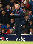 Rangers manager Ally McCoist shouting at his defenders as Inverness take the lead