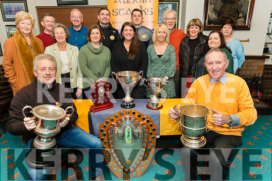 Members of the Austin Stacks GAA Club launching its social, 'The Rock & Rose Victory Social' in the club on Monday night.Seated: Eamonn O'Reily (Vice Chair) and Billy Ryle (Chairman).<br /> Front l to r: Mairead Fernane, Carmel Quilter O'Neill, Elma Nix, Mary McQuinn, Lorraine Scanlon and Siobhan Power.<br /> Back row l to r: Neil Shanahan, Colm Mangan, Wayne Quillinan, Ronan Shanahan, Aidan O'Connor, Michelle King (Rose Hotel) and Ann Marie Healy.