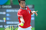 Yuichi Sugita (JPN),<br /> AUGUST 9, 2016 - Tennis : <br /> Men's Singles second Round <br /> at Olympic Tennis Centre <br /> during the Rio 2016 Olympic Games in Rio de Janeiro, Brazil. <br /> (Photo by Yohei OsadaAFLO SPORT)