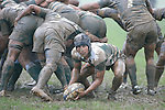 J. Davies clears the ball from a scrum in wet conditions. Counties Manukau Premier Club Rugby,Premier Semi final, Patumahoe vs Manurewa played at Patumahoe on Saturday 17th June 2006. Patumahoe won 21 -10.