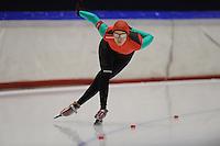 SCHAATSEN: HEERENVEEN: Thialf, 4th Masters International Speed Skating Sprint Games, 25-02-2012, Yulia Napolskikh (F35) 2nd, ©foto: Martin de Jong