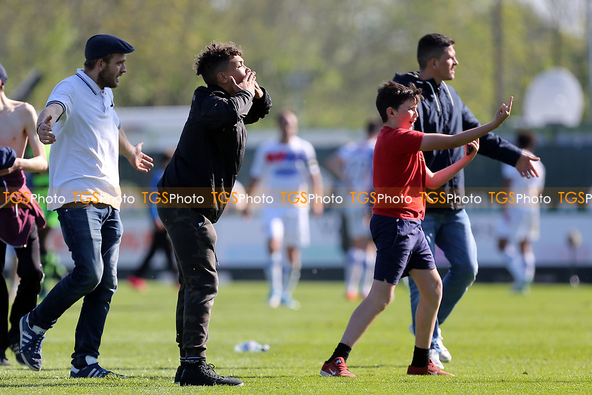 Home fans goad the away fans after Forest Green Rovers vs Dagenham & Redbridge, Vanarama National League Play-Off Football at The New Lawn on 7th May 2017