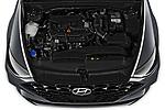 Car Stock 2020 Hyundai Sonata Limited 4 Door Sedan Engine  high angle detail view