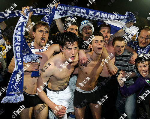 2009-04-18 / Voetbal / KV Turnhout viert de titel en promotie naar tweede nationale ..Foto: Maarten Straetemans (SMB)
