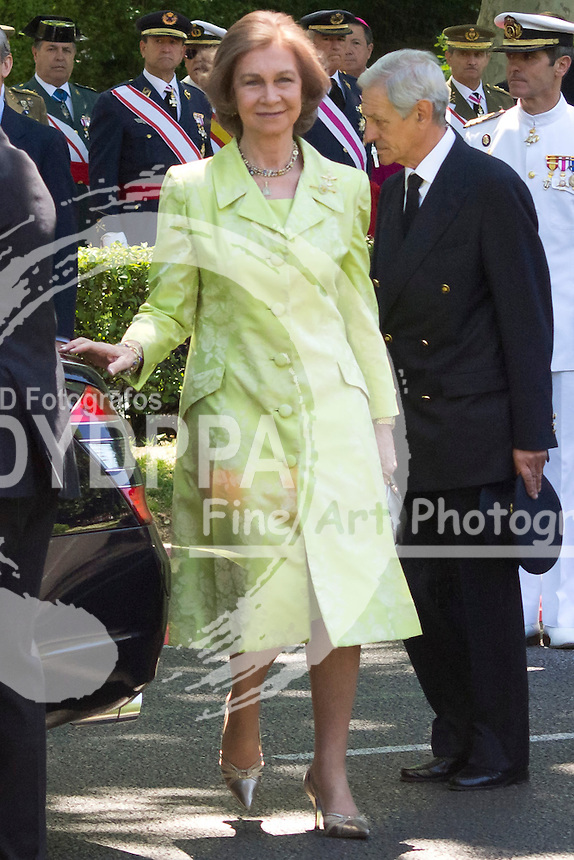 01.06.2013. Madrid. Spain. Spanish Royal family attend the Armed Forces Day. In the image:  Queen Sofia of Spain. (C) Ivan L. Naughty / DyD Fotografos//