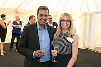 Paul Raai of Mattoli Woods and Bobie Petrova from the NHS