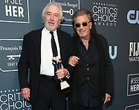 12 January 2020 - Santa Monica, California - Robert DeNiro, Al Pacino. 25th Annual Critici's Choice Awards - Press Room held at Barker Hangar. Photo Credit: Birdie Thompson/AdMedia