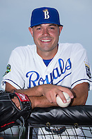 Burlington Royals pitcher Anthony Kidston (21) poses for a photo prior to the game against the Bluefield Blue Jays at Burlington Athletic Stadium on June 27, 2016 in Burlington, North Carolina.  The Royals defeated the Blue Jays 9-4.  (Brian Westerholt/Four Seam Images)