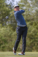 Xinjun Zhang (CHN) watches his tee shot on 15 during Round 1 of the Valero Texas Open, AT&amp;T Oaks Course, TPC San Antonio, San Antonio, Texas, USA. 4/19/2018.<br /> Picture: Golffile | Ken Murray<br /> <br /> <br /> All photo usage must carry mandatory copyright credit (&copy; Golffile | Ken Murray)