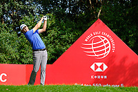 Patton Kizzire (USA) on the 2nd  during the 1st round at the WGC HSBC Champions 2018, Sheshan Golf CLub, Shanghai, China. 25/10/2018.<br /> Picture Phil Inglis / Golffile.ie<br /> <br /> All photo usage must carry mandatory copyright credit (&copy; Golffile | Phil Inglis)