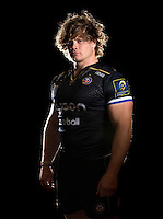 Nick Auterac poses for a portrait in the 2015/16 European kit during a Bath Rugby photocall on September 8, 2015 at Farleigh House in Bath, England. Photo by: Patrick Khachfe / Onside Images