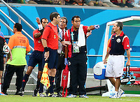 Costa Rica coach Jorge Luis Pinto rages at the fourth official