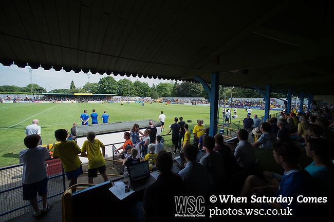 St Albans 0 Watford 5, 26/07/2014. Clarence Park, Pre Season Friendly. Pre Season friendly between St Albans City and Watford from Clarence Park Stadium. View from the main stand. Watford won the game 5-0. Photo by Simon Gill.