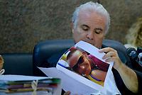 Roma, 17 Luglio 2018<br /> Il giudice Vincenzo Capozza con una foto di Stefano<br /> Processo Cucchi Bis contro 5 Carabinieri accusati della morte di Stefano Cucchi