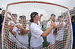 STONY BROOK, NY - MAY 27: The James Madison Dukes react after winning the Division I Women's Lacrosse Championship held at Kenneth P. LaValle Stadium on May 27, 2018 in Stony Brook, New York. (Photo by Ben Solomon/NCAA Photos via Getty Images)