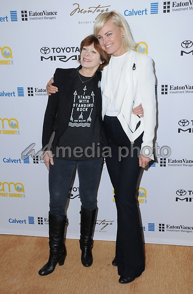 23 March 2017 - Beverly Hills, California - Frances Fisher,Malin Akerman. Environmental Media Association Hosts The EMA IMPACT Summit held at The Montage Beverly Hills in Beverly Hills. Photo Credit: Birdie Thompson/AdMedia